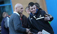Reading manager Jakob Stam arrives at Madejski Stadium prior to kick off of the Carabao Cup Third Round match between Reading and Swansea City at Madejski Stadium, Reading, England, UK. Tuesday 19 September 2017