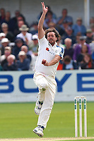 Ryan Sidebottom of Yorkshire in bowling action during Yorkshire CCC vs Essex CCC, Specsavers County Championship Division 1 Cricket at Scarborough CC, North Marine Road on 7th August 2017