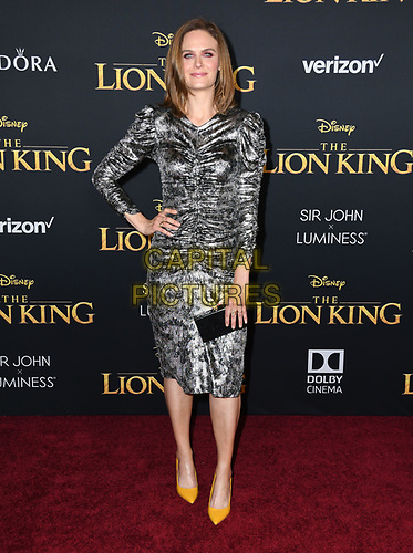 "09 July 2019 - Hollywood, California - Emily Deschanel. Disney's ""The Lion King"" Los Angeles Premiere held at Dolby Theatre. <br /> CAP/ADM/BT<br /> ©BT/ADM/Capital Pictures"