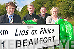 Plans are underway to start a Tidy Towns Committee in Beaufort to develop and improve on the scenic village. .Everyone is invited to attend a public meeting this week to play a part in the new initiative. .L-R Eanna O'Malley, Padraig O'Sullivan, Philip O'Connor and Eileen O'Neill
