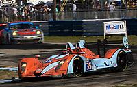 19 March 2011: The #35 Judd Oak Pecarolo of Frederic Da Rocha, Patrick Lafargue, and Andrea Barlesi leads another car during the12 Hours of Sebring, Sebring Internatonal Raceway, Sebring, FL. (Photo by Brian Cleary/www.bcpix.com)
