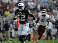 17 September 2016:  Penn State WR Chris Godwin (12) runs into the end zone after a touchdown catch. The Penn State Nittany Lions defeated the Temple Owls 34-27 at Beaver Stadium in State College, PA. (Photo by Randy Litzinger/Icon Sportswire)