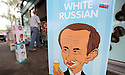An eat ice cream advert using a cartoon of Russian President Vladimir Putin is seen at a petrol station close to the G8 Summit in Lough Erne, Northern Ireland, Britain, 18 June 2013. Leaders from Canada, France, Germany, Italy, Japan, Russia, USA and UK are meeting at Lough Erne in Northern Ireland for the G8 Summit 17-18 June. The leaders were holding their second and final day of talks on 18 June, with the global economy and tax avoidance high on the agenda.  Photo/Paul McErlane