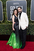 Marin Hinkle and Tony Shalhoub attend the 76th Annual Golden Globe Awards at the Beverly Hilton in Beverly Hills, CA on Sunday, January 6, 2019.<br /> *Editorial Use Only*<br /> CAP/PLF/HFPA<br /> Image supplied by Capital Pictures