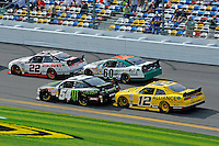 Brad Keselowski (#22), Kyle Busch (#54), Trevor Bayne (#60) and Sam Hornish, Jr. (#12)
