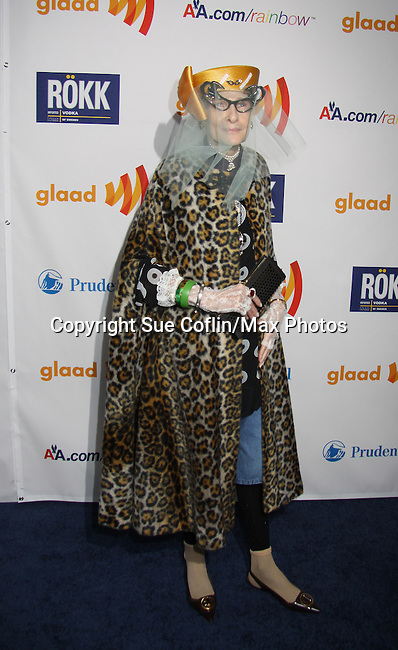 Rollerina & guest at the 22nd Annual Glaad Media Awards honoring Ricky Martin (GH) & Russell Simmons on March 19, 2011 at the New York Marriott Marquis, New York City, New York. (Photo by Sue Coflin/Max Photos)