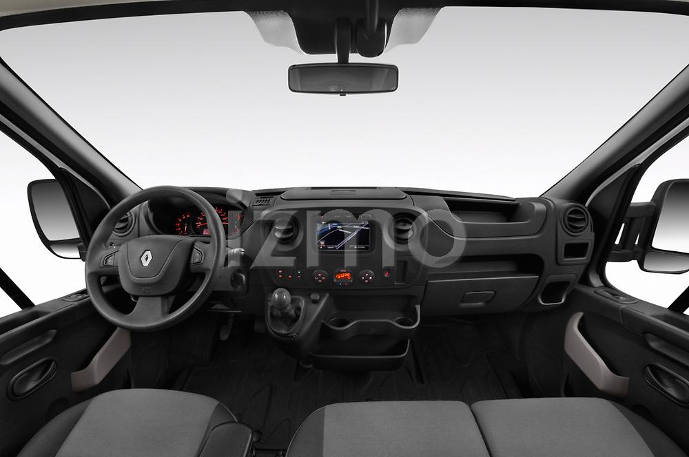 Stock photo of straight dashboard view of a 2019 Renault Master Base 4 Door Cargo Van