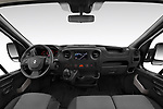 Stock photo of straight dashboard view of a 2019 Renault Master Base 4 Door Cargo Van