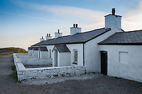 Pilot's cottages on Llanddwyn Island, Newborough, Anglesey, Wales. August 2012. Were used to service pilot boats and lifeboats.