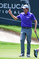Webb Simpson (USA) after sinking his birdie putt on 18 during round 2 of the Dean &amp; Deluca Invitational, at The Colonial, Ft. Worth, Texas, USA. 5/26/2017.<br /> Picture: Golffile | Ken Murray<br /> <br /> <br /> All photo usage must carry mandatory copyright credit (&copy; Golffile | Ken Murray)