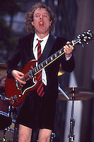 Angus Young 1996 filming Howard Sterns <br />