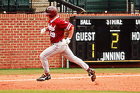NASHVILLE, TENNESSEE-Feb. 27, 2011:  Ben Clowe of Stanford runs the bases following his home run during the game at Vanderbilt.  Stanford defeated Vanderbilt 5-2.