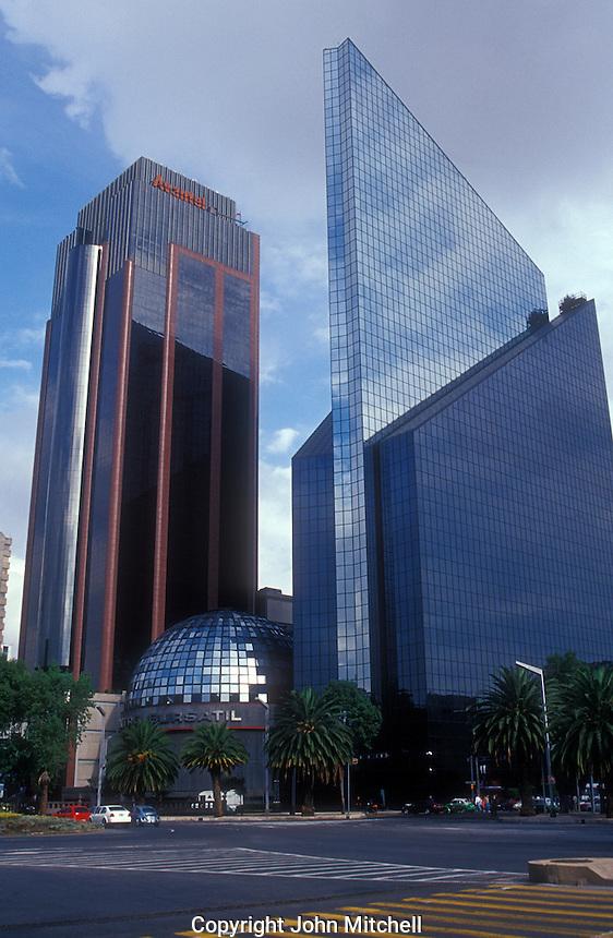 The Mexican Stock Exchange Building or Centro Bursatil on Paseo de la Reforma, Mexico City