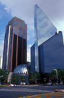 The Mexican Stock Exchange Building or Centro Bursatil on Paseo de la Reforma, Mexico City