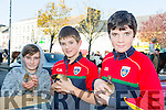 Jack O'Connell, Thomas Conway and Billy Conway from Castleisland enjoying the Castleisland Horse fair on Monday