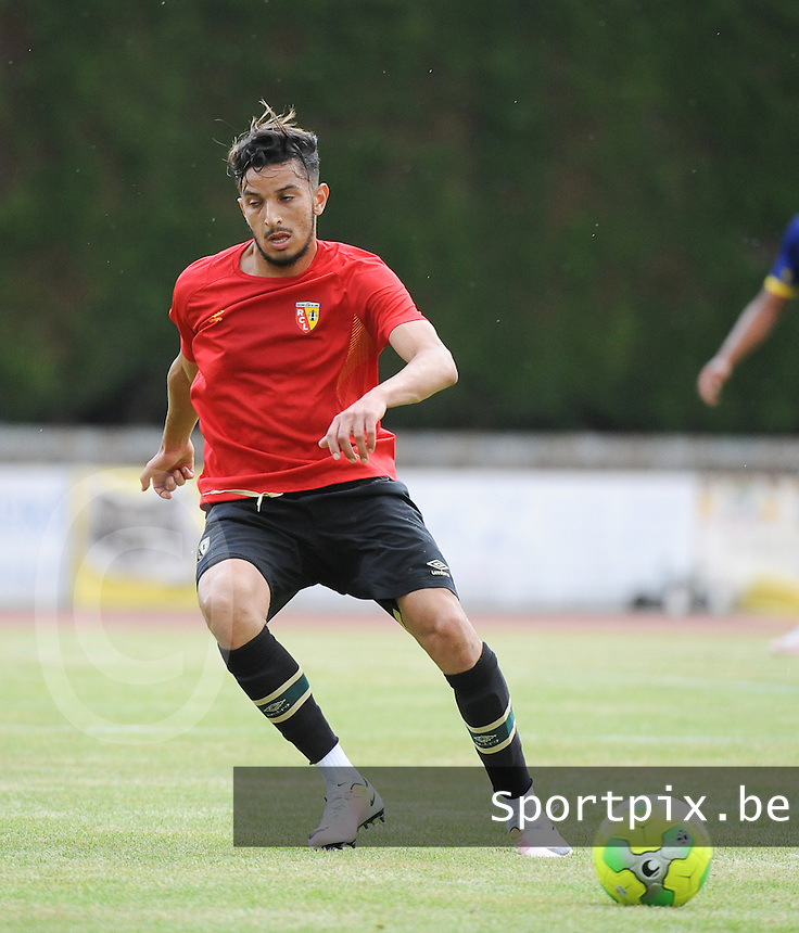 20160713 - DOUAI , FRANCE : RC Lens' Abdellah Zoubir pictured during a friendly game between Racing Club de LENS and Waasland Beveren during the preparations for the 2016-2017 season , Wednesday 13 July 2016 ,  PHOTO Dirk Vuylsteke | Sportpix.Be