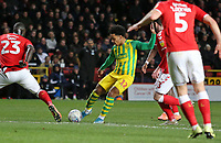 Matheus Pereira of West Bromwich Albion shot goes wide during Charlton Athletic vs West Bromwich Albion, Sky Bet EFL Championship Football at The Valley on 11th January 2020