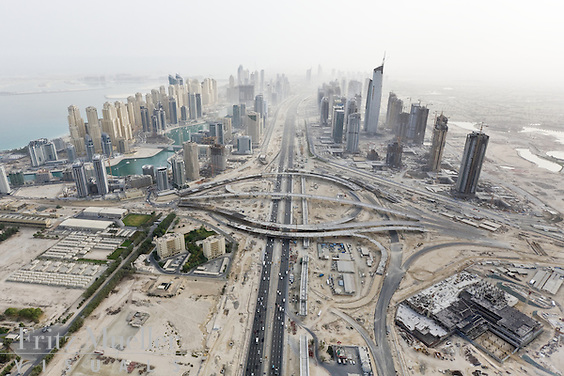Construction unfolds at breakneck speed in Dubai, United Arab Emirates
