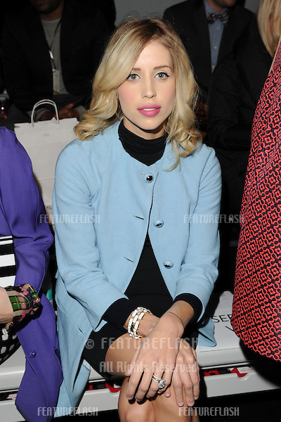 Peaches Geldof at the PPQ catwalk show as part of London Fashion Week AW13, Somerset House, London. 15/02/2013 Picture by: Steve Vas / Featureflash
