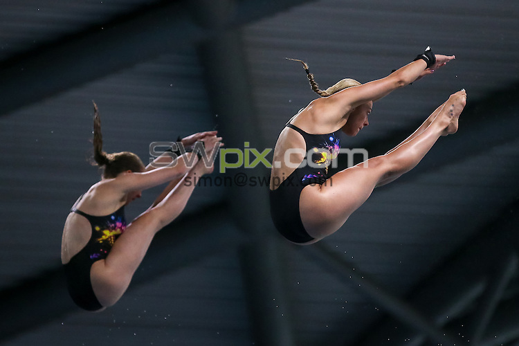 Picture by Alex Whitehead/SWpix.com - 10/06/2016 - Diving - 2016 British Diving Championships - Ponds Forge, Sheffield, England - Tonia Couch and Lois Toulson win Gold in the Women's 10m Synchro final.