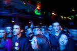 Young Greeks watch a hip hop Live show at Boxx Live Stage in Ioannina.