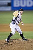 Kannapolis Intimidators relief pitcher Alex Katz (20) in action against the Asheville Tourists at Kannapolis Intimidators Stadium on May 5, 2017 in Kannapolis, North Carolina.  The Tourists defeated the Intimidators 5-1.  (Brian Westerholt/Four Seam Images)
