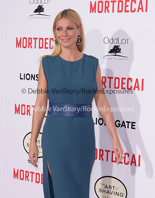 Gwyneth Paltrow attends The Mortdecai Los Angeles Premiere held at The TCL Chinese Theater  in Hollywood, California on January 21,2015                                                                               © 2015 Hollywood Press Agency