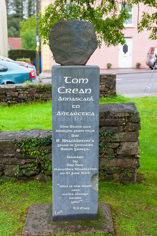 Stone from Grytviken, South George, in Tom Crean Memorial Garden, Annascaul, Dingle Peninsula, Co. Kerry, Ireland