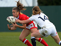 Frederique Rajotte in action during the 2017 International Women's Rugby Series rugby match between England Roses and Canada at Rugby Park in Christchurch, New Zealand on Tuesday, 13 June 2017. Photo: Dave Lintott / lintottphoto.co.nz