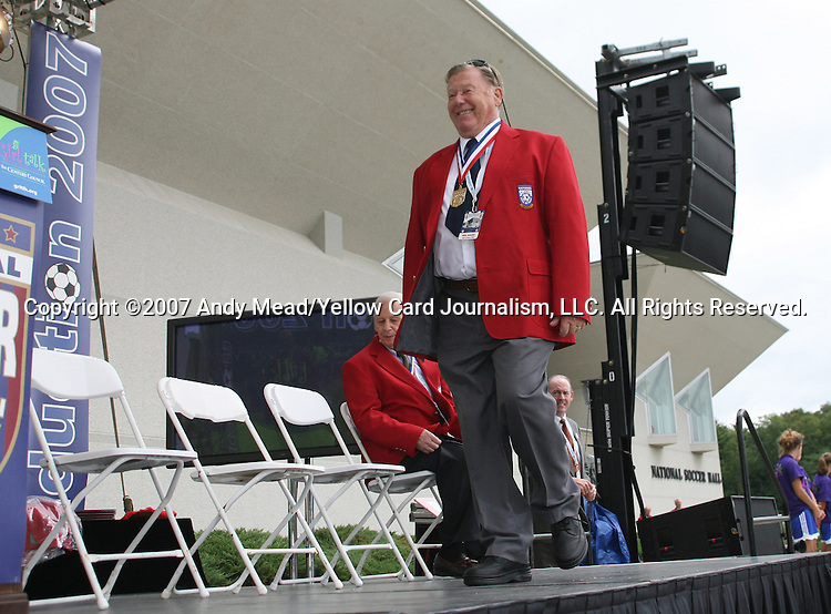 26 August 2007: Hall of Famer Willy Schaller. The National Soccer Hall of Fame Induction Ceremony was held at the National Soccer Hall of Fame in Oneonta, New York.