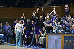 DURHAM, NC - NOVEMBER 16: High Point players on the bench celebrate a basket by their team. The Duke University Blue Devils hosted the High Point University Panthers on November 16, 2017 at Cameron Indoor Stadium in Durham, NC in a Division I women's college basketball game. Duke won the game 77-50.