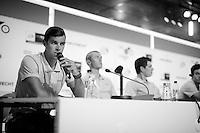 Michael Matthews (AUS/Orica-GreenEDGE) at the 2015 pre-Tour de France press conference