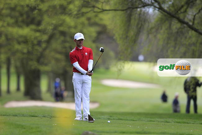 Danny Daniels (Essendon Country Club) during the final round of the Peter McEvoy Trophy, Copt Heath Golf Club, Knowle, Solihull, England. 13/04/2017.<br /> Picture: Golffile | Fran Caffrey<br /> <br /> <br /> All photo usage must carry mandatory copyright credit (&copy; Golffile | Fran Caffrey)
