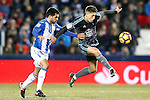 CD Leganes' Pablo Insua (l) and Celta de Vigo's Alvaro Lemos during La Liga match. January 28,2017. (ALTERPHOTOS/Acero)