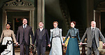 Caroline Stefanie, Darren Goldstein, Richard Thomas, Cynthia Nixon, Laura Linney and Michael McKean during the Broadway Opening Night Curtain Call bows for 'The Little Foxes' at Samuel J. Friedman Theatre on April 19, 2017 in New York City.