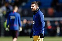 23rd November 2019; Estadio Municipal de Butarque, Madrid, Spain; La Liga Football, Club Deportivo Leganes versus Futbol Club Barcelona; Lionel Messi (FC Barcelona)  Pre-match warm-up  - Editorial Use