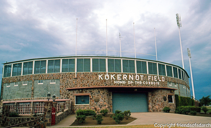 Ballparks: Alpine, TX. Kokernot Field, 1947. Home of the Cowboys.