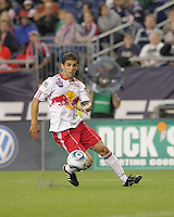 New York Red Bulls defender Carlos Mendes (4) at midfield. The New England Revolution defeated the New York Red Bulls, 3-2, at Gillette Stadium on May 29, 2010.
