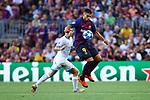 UEFA Champions League 2018/2019 - Matchday 1.<br /> FC Barcelona vs PSV Eindhoven: 4-0.<br /> Jose Tasende vs Luis Suarez.