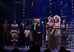 """Phyllida Lloyd, Daniel J. Watts, Tina Turner, Adrienne Warren and Katori Hall with cast during the """"Tina - The Tina Turner Musical"""" Opening Night Curtain Call at the Lunt-Fontanne Theatre on November 07, 2019 in New York City."""