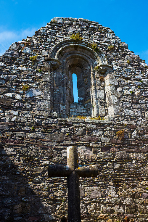 Ardmore Cathedral, Co Waterford, Ireland. Believed to be the earliest Christian settlement in Ireland, Saint Declan lived in here in the 4th century. The cathedral  and round tower mostly dates from 12-13 century.
