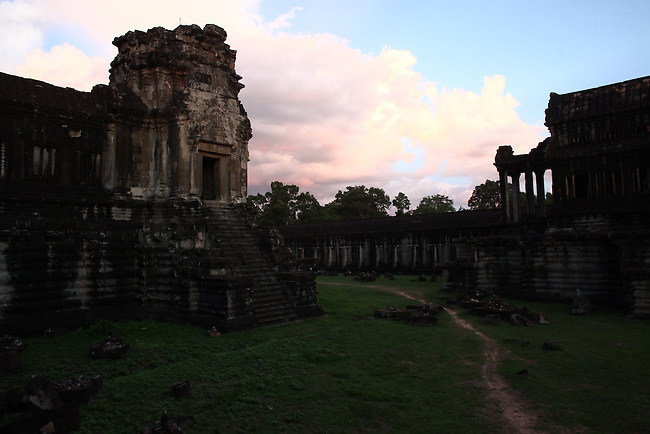 Dusk at Angkor Wat, Cambodia. June 8, 2013.
