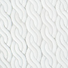 Cable Knit Large, a waterjet stone mosaic, shown in Venetian honed Dolomite, is part of the Palazzo® collection by New Ravenna.