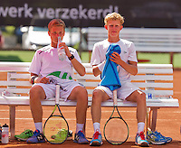 Netherlands, Rotterdam August 08, 2015, Tennis,  National Junior Championships, NJK, TV Victoria, Boys doubles: Bart Stevens and Michiel de Krom (R)<br /> Photo: Tennisimages/Henk Koster