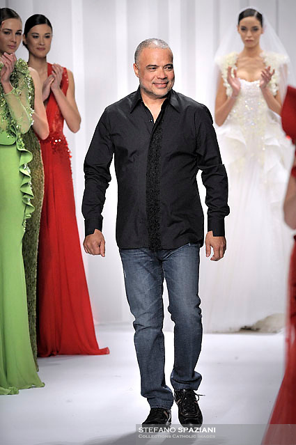 Abed Mahfouz,Lebanese Fashion Designer  Abed Mahfouz featured at Rome Fashion Week,Fashion show. Presentation of S/S 2013.Italian Haute Couture collection, January 28, 2013