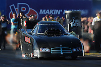 Feb. 17 2012; Chandler, AZ, USA; NHRA funny car driver Grant Downing during qualifying for the Arizona Nationals at Firebird International Raceway. Mandatory Credit: Mark J. Rebilas-