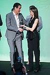"""Winner of the prize, """"El Barco de Vapor"""", Roberto Santiago during the delivery of SM Awards of children's literature """"El Barco de Vapor"""" and """"Gran Angular"""" at Real Casa de Correos in Madrid. April 19,2016. (ALTERPHOTOS/Borja B.Hojas)"""