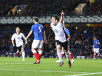 Nicky Clark runs away after the opening goal in the Rangers v Queen of the South Quarter Final match in the Ramsdens Cup played at Ibrox Stadium, Glasgow on 18.9.12.