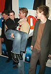 "The cast of ""Quintuplets"" (l-r): Andy Richter, Ryan Pinkston, Johnny Lewis & Jake McDorman attending the FOX TV Network Upfront at the City Center with a party at The Boathouse in Central Park, New York City.  May 20, 2004."