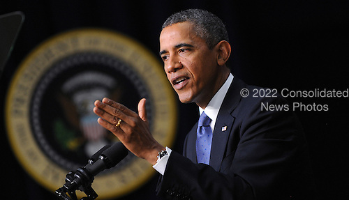 United States President Barack Obama speaks at a event to mark the five-year anniversary of the financial crisis  in the South Court Auditorium at the White House September 16, 2013 in Washington, DC<br /> Credit: Olivier Douliery / Pool via CNP